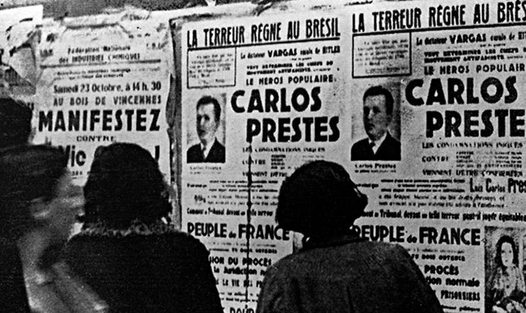 <strong> Campanha do Partido Comunista</strong> francês pela libertação de Prestes e Olga&nbsp;