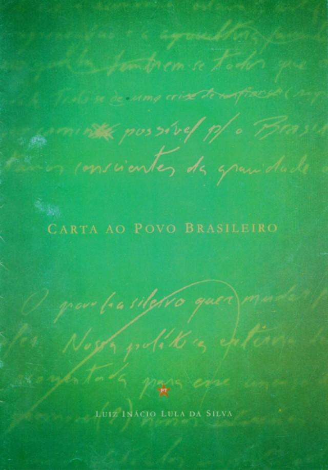 Na Carta ao Povo Brasileiro, Lulamantém o chamado tripé macroeconômico mas deixa claro que o governo perseguiria também crescimento, geração de emprego e distribuição de renda