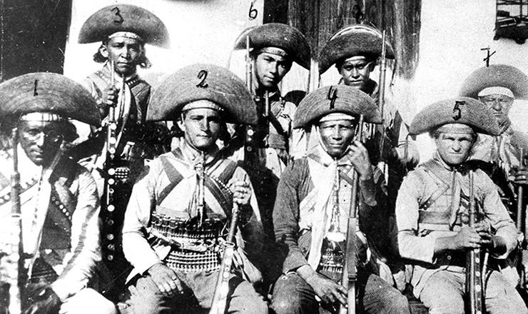 <strong> Cangaceiros do bando: Lampi&atilde;o</strong> (1),&nbsp;Corisco (2), Ezequiel (3), Fortaleza (6) e Revoltoso (8)&nbsp;