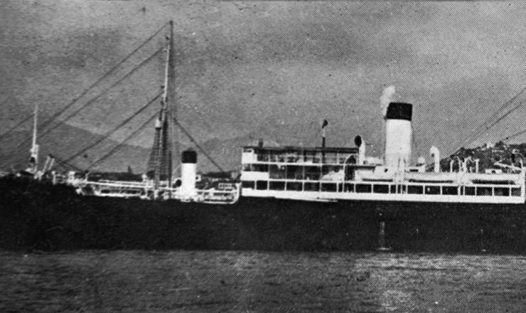 <strong> O navio &quot;Baependi&quot;,</strong> que seria torpedeado por submarinos alem&atilde;es