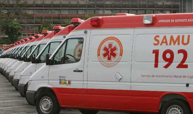 <strong> Ambul&acirc;ncias do Samu: </strong> socorro de emerg&ecirc;ncia no local do acidente