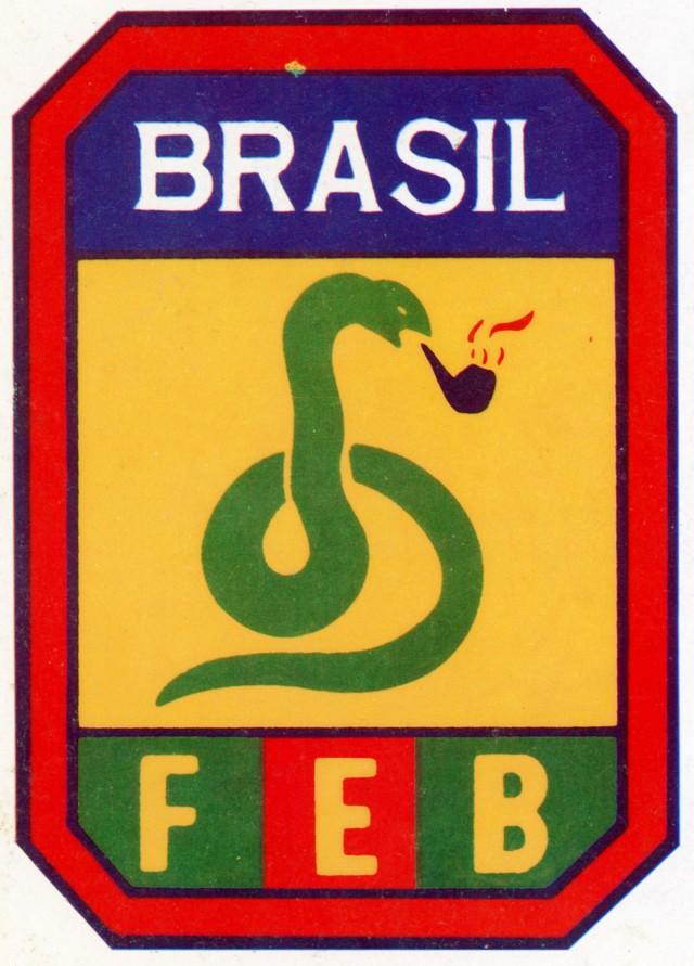 Emblema da FEB, criado como resposta aos céticos que duvidavam da participação brasileira