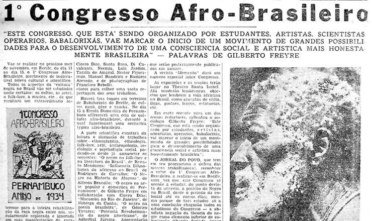 <strong> O carioca &quot;Jornal do Povo&quot; convida </strong> para o Congresso no Recife, em sua edi&ccedil;&atilde;o de 17 de outubro de 1934