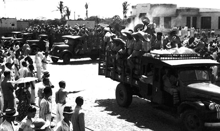 <strong> Partida dos soldados da borracha</strong> para os seringais&nbsp;