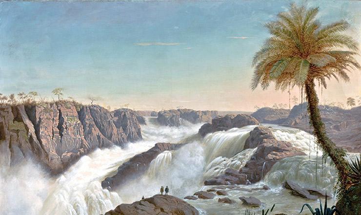 <strong> Cachoeira de Paulo Afonso</strong> , pintura de E. F. Schute, 1850&nbsp;