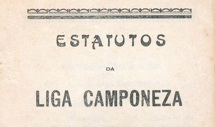 <strong> Capa dos estatutos&nbsp;</strong> das ligas camponesas, publicados em 1947