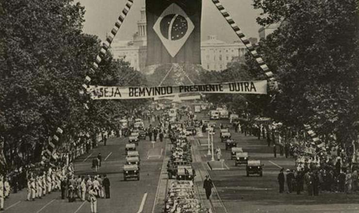 <strong> Em Washington, DC, manifesta&ccedil;&otilde;es</strong> de boas-vindas ao presidente do Brasil Eurico Gaspar Dutra