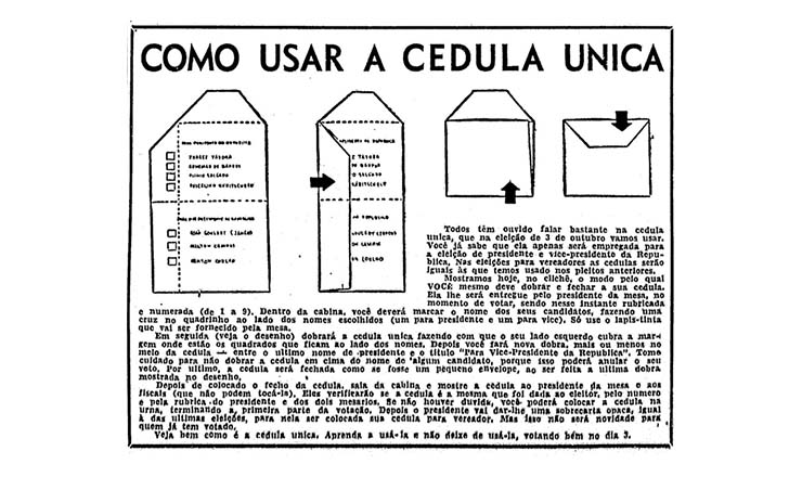 <strong> Orienta&ccedil;&atilde;o </strong> publicada na &ldquo;Folha da Manh&atilde;&rdquo;, 28 de setembro de 1955
