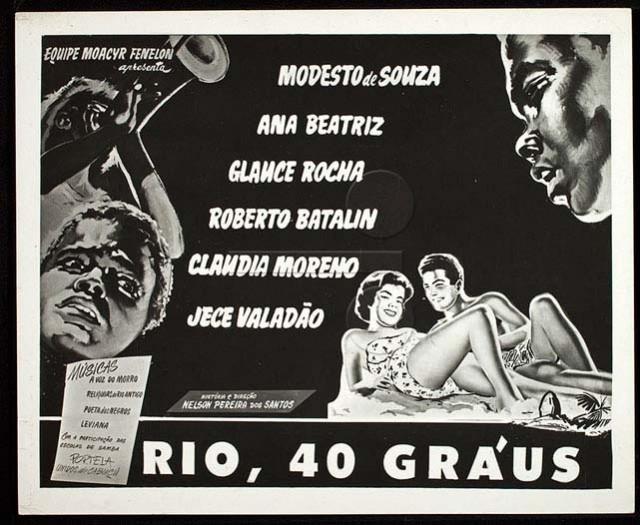 """Um dos cartazes do filme """"Rio, 40 Graus"""""""