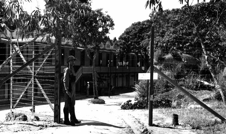 <strong> Campo de confinamento</strong> de alem&atilde;es e italianos no interior do Rio de Janeiro, 1942