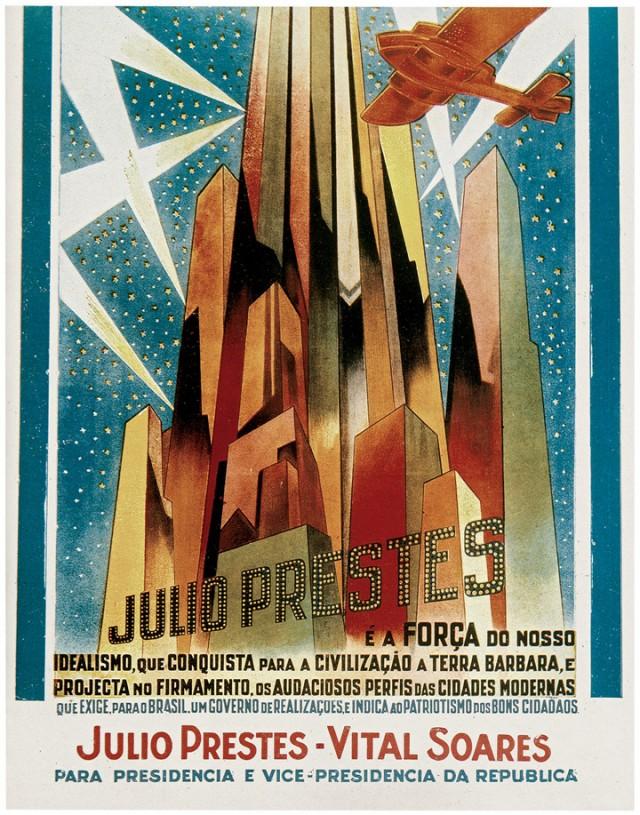 Cartaz da campanha  da chapaJúlio Prestes-Vital Soares à Presidência