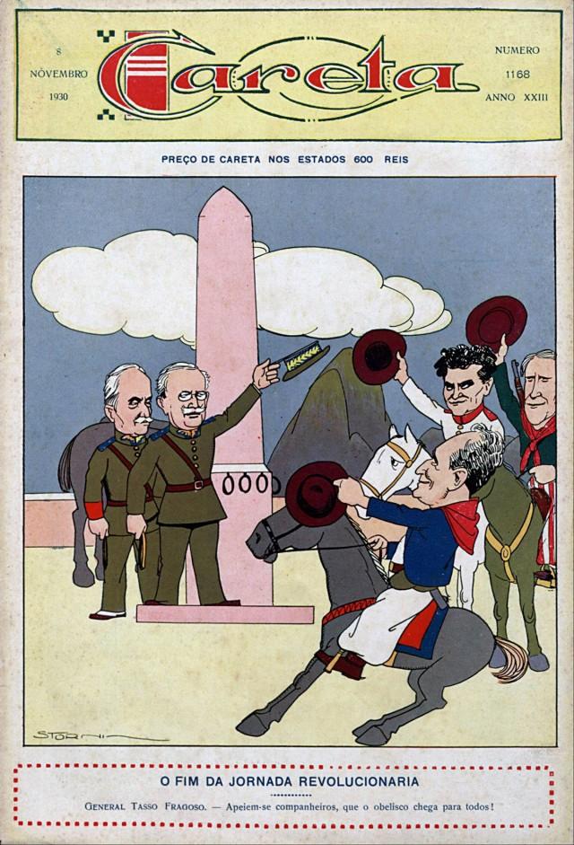 "Charge de Storni publicada  na revista ""Careta"" de 8 de novembro de 1930"