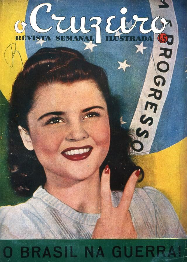 """Capa da revista""""O Cruzeiro"""" de 29 de agosto de1942"""