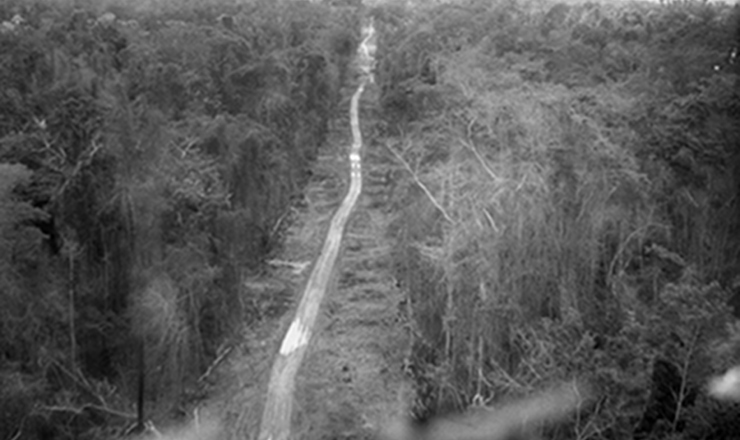 <strong> Constru&ccedil;&atilde;o da rodovia&nbsp;Bel&eacute;m-Bras&iacute;lia</strong> (BR-153), no final dos anos 1950. Juscelino construiu 20 mil quil&ocirc;metros e estradas e pavimentou 5.600 de rodovias j&aacute; existentes