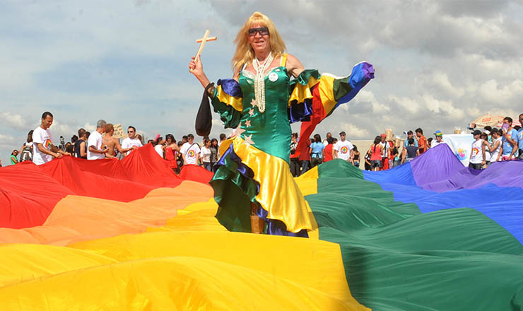 <strong> Primeira Marcha Nacional contra a Homofobia, </strong> maio de 2010, em Brasília