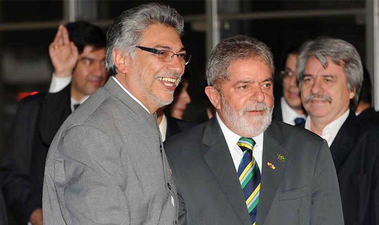 <strong> Presidentes Lugo e Lula</strong> participam de reunião, em maio de 2009, para acerto dos termos da revisão do Tratado de Itaipu