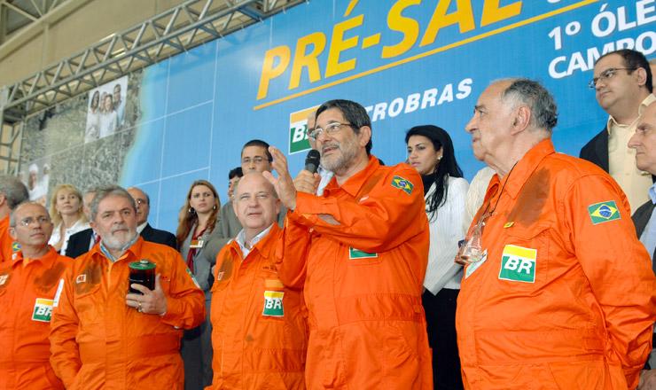 <strong> Presidente Lula e Sérgio Gabrielli </strong> participam de cerimônia de primeira extração do pré-sal no campo de Baleia (ES)