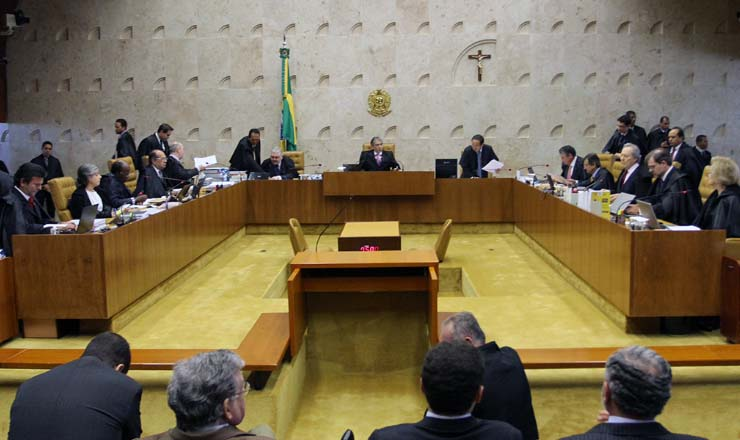 <strong> Sessão plenária de julgamento da Ação Penal 470 </strong> pelo Supremo Tribunal Federal