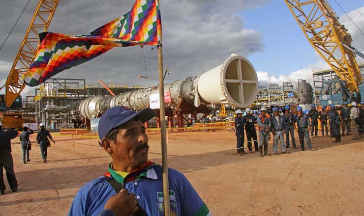 <strong> Instalação petrolífera ocupada: </strong> empresas estrangeiras ganham muito e pagam pouco à Bolívia