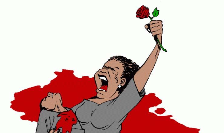 <strong> Logomarca oficial do grupo M&atilde;es de Maio</strong> , produzida por Latuff