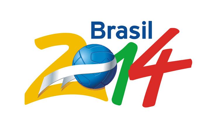 <strong> Logomarca da candidatura</strong> vitoriosa do Brasil para sediar a Copa do Mundo de 2014