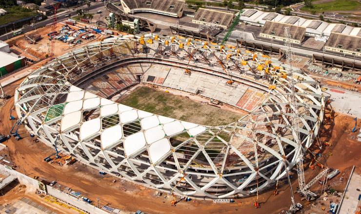 <strong> Manaus, uma das cidades-sede: </strong> estádio novo.