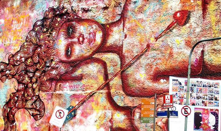 <strong> Grafite de Anarkia Boladona no Rio de Janeiro:</strong> referência à Lei Maria da Penha