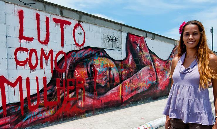 <strong> &nbsp;Anarkia Boladona: </strong> o muro como tela, a rua como galeria, o feminismo como tema