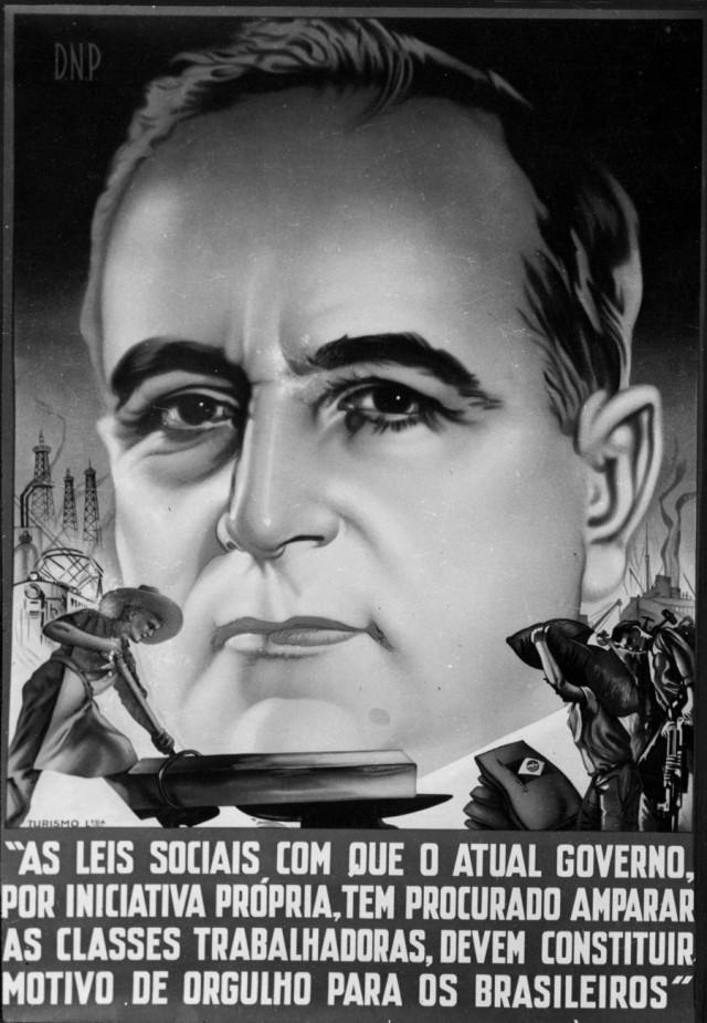 A exaltaçãoao trabalho no Estado Novo, presente em cartazes do DIP, o Departamento de Imprensa e Propaganda