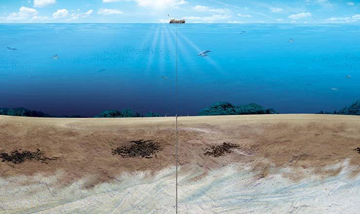 <strong> Tecnologia desenvolvida pelaPetrobras permiteexplorar </strong> reservas perfurandoduras camadas de sal