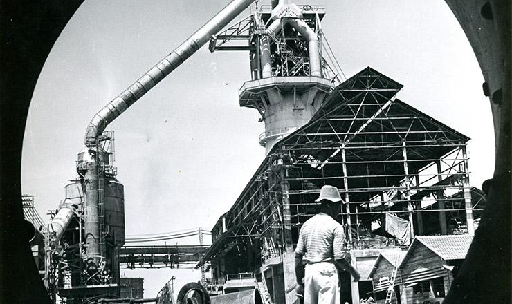 <strong> Construção da usina de Volta Redonda </strong> da CSN, em 1941