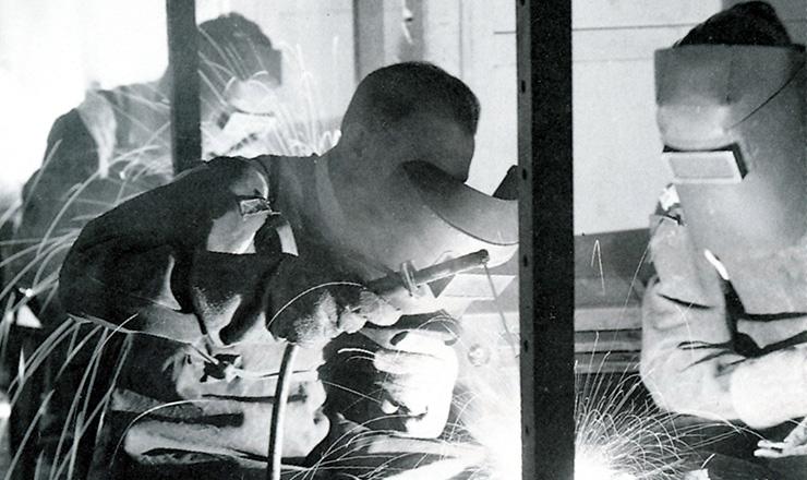 <strong> Senai: aluno do curso </strong> dequalificação de soldadores
