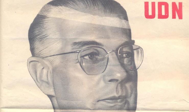 <strong> Cartaz de campanha</strong> do brigadeiro Eduardo Gomes