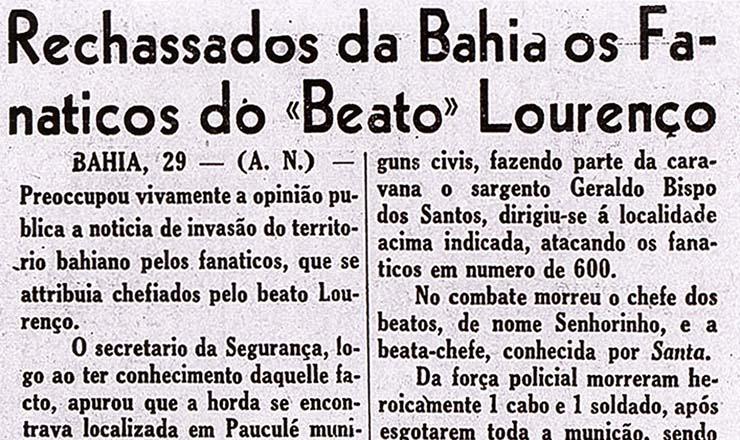 <strong> O massacre de Pau de Colher</strong> nas p&aacute;ginas do &quot;Diario Carioca&quot;, 30 de janeiro de 1938