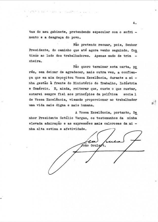 Pedido de demissão de João Goulart