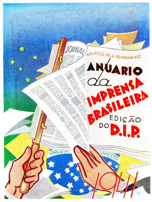 """""""Anuario daImprensa Brasileira"""", publicação do Departamento de Imprensa e Propaganda, 1941"""