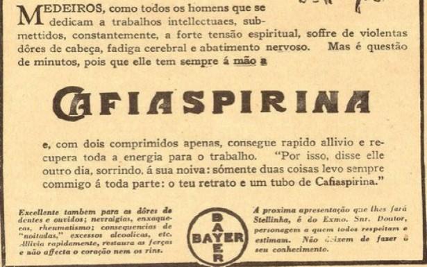 <strong> Jingle do analg&eacute;sico Cafiaspirina, </strong> divulgado nos anos 1950