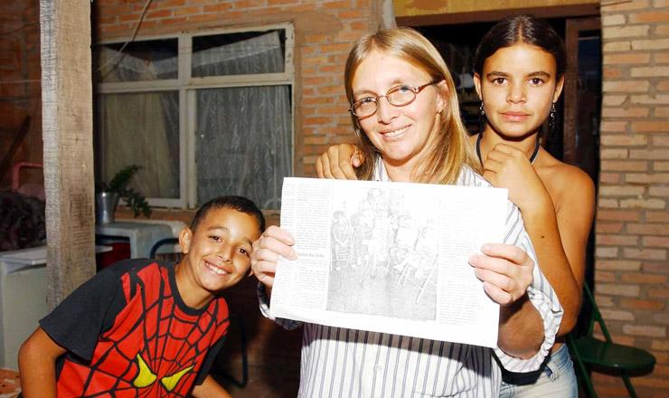 <strong> Selma e seus filhos (Bras&iacute;lia): </strong> uma das primeiras fam&iacute;lias beneficiadas pelo Bolsa Fam&iacute;lia em 2004