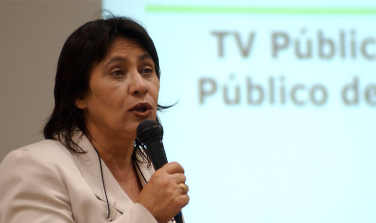 <strong> Tereza Cruvinel</strong> <strong> , diretora-presidente da EBC, profere </strong> palestra sobre comunicação pública na UnB