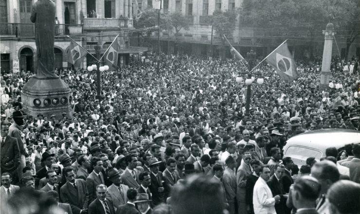 <strong> Comemora&ccedil;&atilde;o</strong> da promulga&ccedil;&atilde;o da Constitui&ccedil;&atilde;o, Pal&aacute;cio Tiradentes, RJ, 18.09.1946