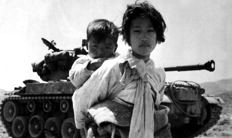 <strong> Crian&ccedil;as refugiadas</strong> na guerra da Coreia