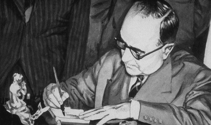 <strong> Get&uacute;lio Vargas</strong> assina a Lei n&ordm; 2004/1953, autorizando a cria&ccedil;&atilde;o da Petrobr&aacute;s