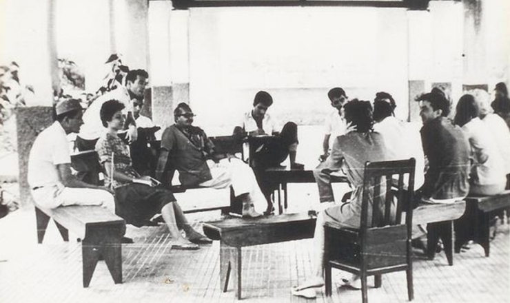 <strong> Paulo Freire </strong> (de &oacute;culos)<strong> participa </strong> do curso de capacita&ccedil;&atilde;o de professores em Angicos (RN)  &nbsp;