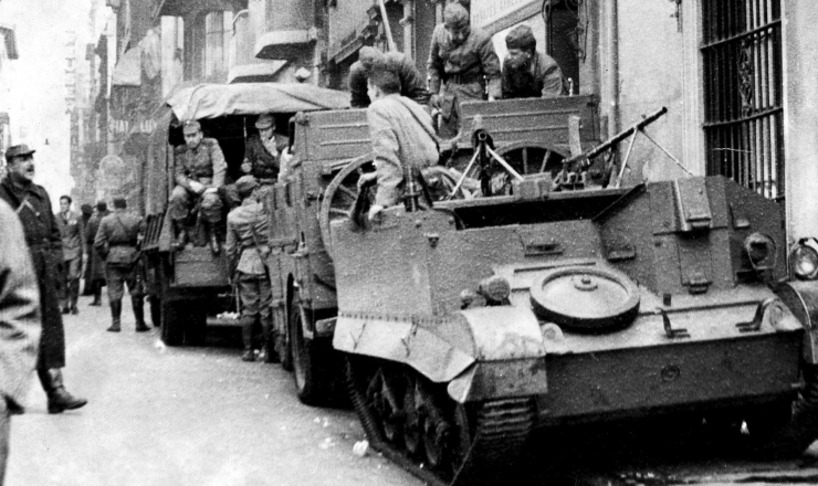 <strong> Militares ocupam </strong> o centro de Buenos<strong> </strong> Aires durante o golpe