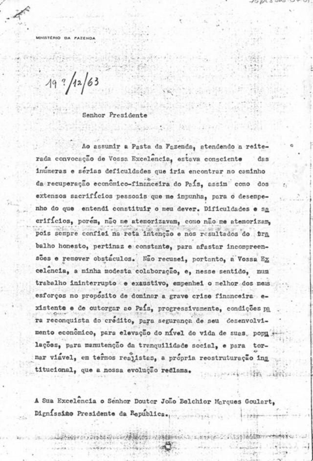 Carta de demissão  de Carvalho Pinto