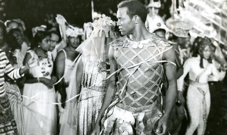 <strong> Breno de Melo (Orfeu) </strong> em cena de 'Orfeu do Carnaval', de Marcel Camus