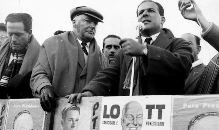 <strong> Lott e Jango em campanha</strong> no Rio Grande do Sul, em maio de 1960