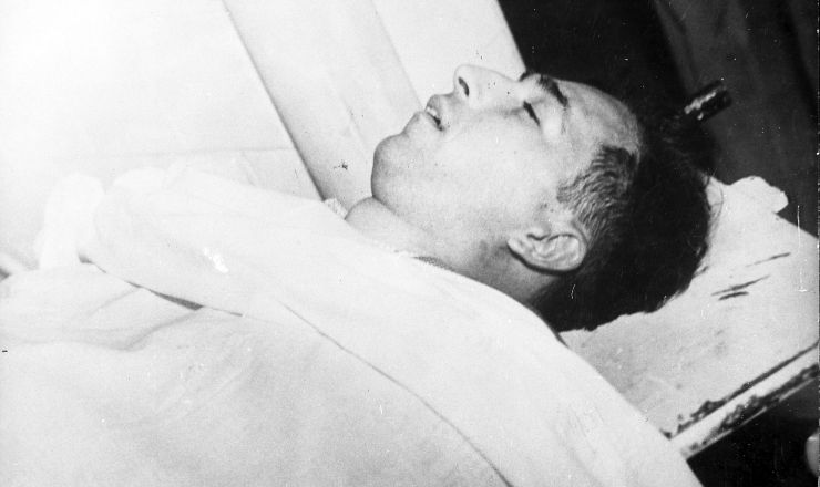 <strong> Corpo do major Rubens Vaz: </strong> sua morte no atentado agrava ainda mais a crise pol&iacute;tica