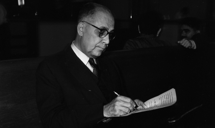 <strong> O ministro da Fazenda Clemente Mariani, </strong> em maio de 1961