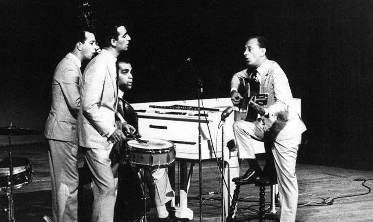 <strong> Os Cariocas </strong> em mar&ccedil;o de 1963.&nbsp;Criado em 1942, era um dos mais antigos grupos musicais do Brasil
